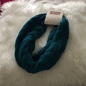 Turquoise Cable Infinity Scarf